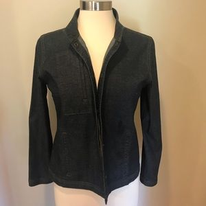 Eileen Fisher Petite M dark denim w/ Lyra jacket.